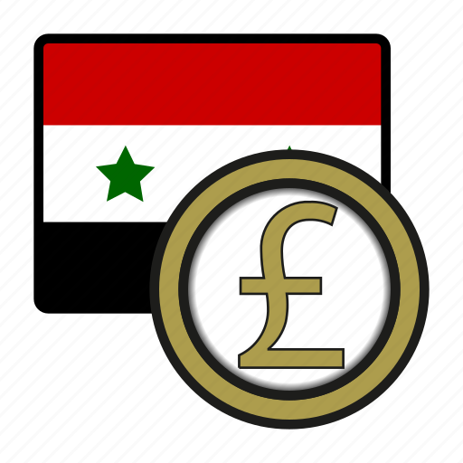 asia, coin, currency, exchange, pound, syria, world icon