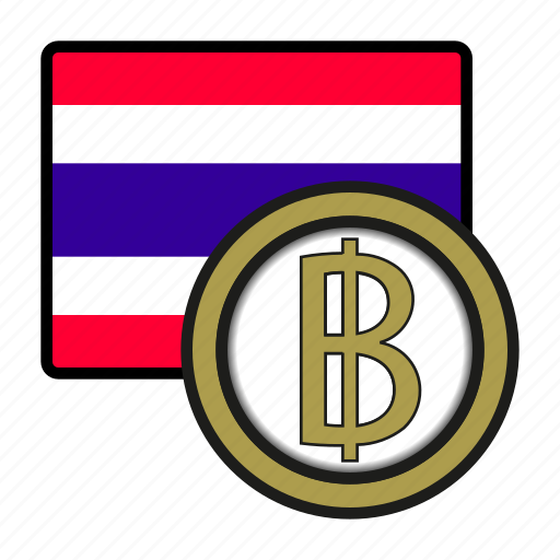asia, baht, coin, currency, exchange, thailand, world icon