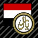 coin, exchange, yemen, rial, money, payment