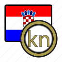 coin, croatia, currency, europe, exchange, kuna, world icon
