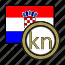 coin, croatia, currency, europe, exchange, kuna, world icon