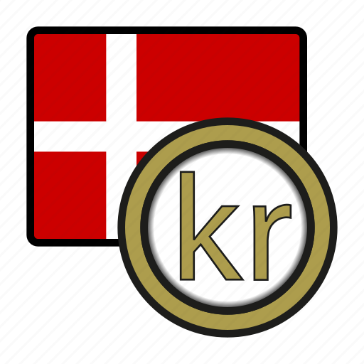 coin, currency, denmark, europe, exchange, krone, world icon