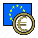 coin, currency, euro, euromember, europe, exchange, world icon