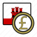coin, currency, europe, exchange, gibraltar, pound, world icon