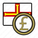 coin, currency, europe, exchange, guernsey, pound, world icon