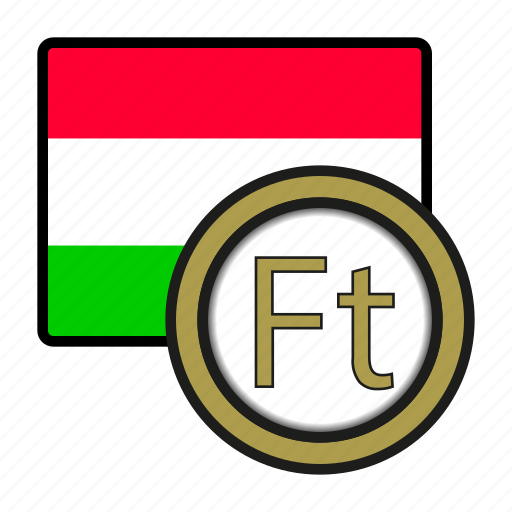 coin, currency, europe, exchange, forint, hungary, world icon