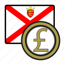 coin, currency, europe, exchange, jersey, pound, world icon