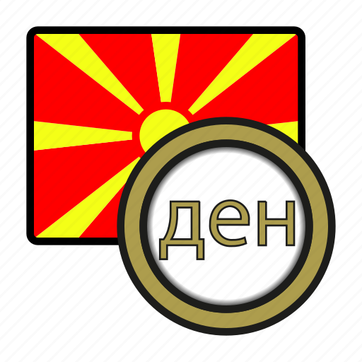 coin, currency, denar, europe, exchange, macedonia, world icon