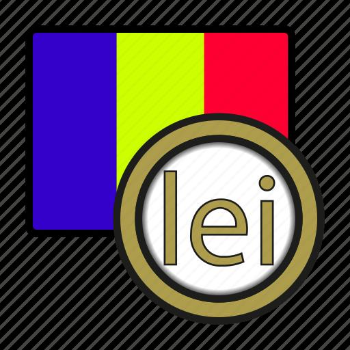 Coin Currency Europe Exchange Leu Romania World Icon Icon