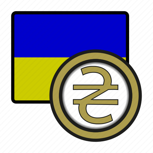 coin, currency, europe, exchange, hryvnia, ukraine, world icon