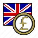 coin, exchange, pound, uk, money, payment, uk flag