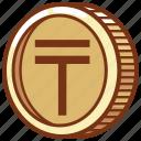 tenge, kazakhstan, currency, money, coin, wealth, economy, exchange