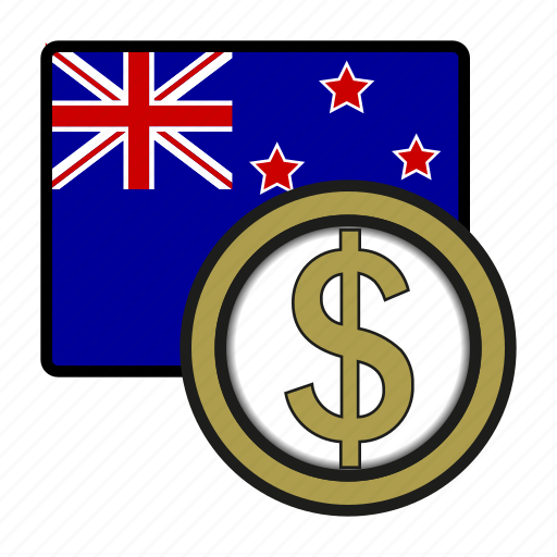 currency, dollar, exchange, money, oceania, world, zealand icon