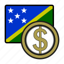 currency, dollar, exchange, money, oceania, solomon, world icon