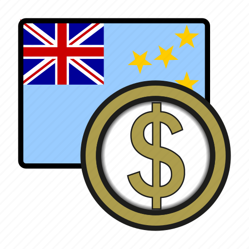 currency, dollar, exchange, money, oceania, tuvalu, world icon