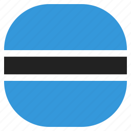 botswana, country, flag, national icon