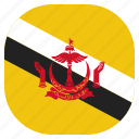 brunei, country, flag, national