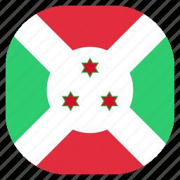 burundi, country, flag, national icon