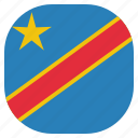 congo, country, democratic, flag, national