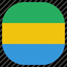 country, flag, gabon, gabonese, national icon