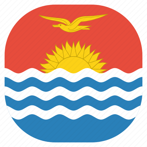 country, flag, kiribati, national icon