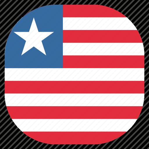 country, flag, liberia, liberian, national icon