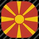 country, flag, macedonia, national