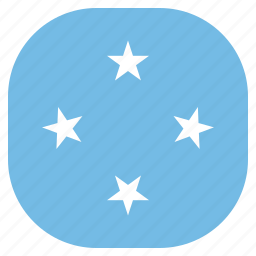 country, flag, micronesia, national icon