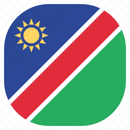 country, flag, namibia, namibian, national icon