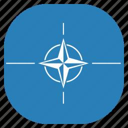 flag, international, nato, organization icon