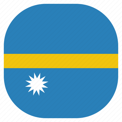 country, flag, national, nauru icon