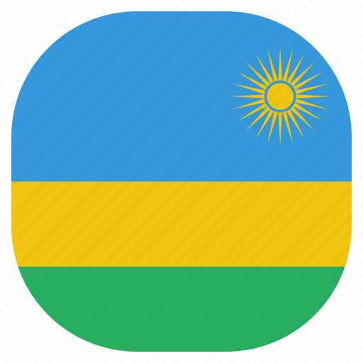 country, flag, national, rwanda icon
