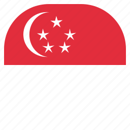 country, flag, national, singapore icon