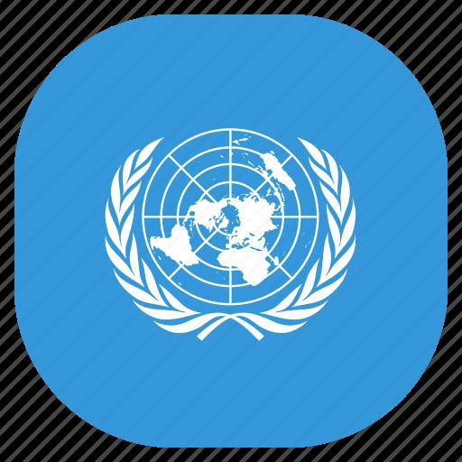 flag, nations, un, united icon