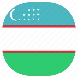 country, flag, national, uzbekistan icon