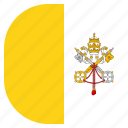 country, flag, pope, vatican icon