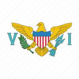 flag, islands, us, virgin icon