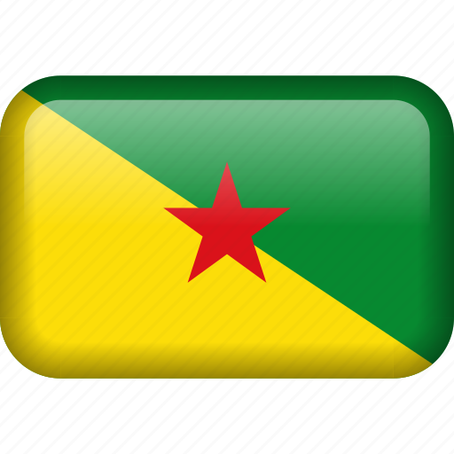 country, flag, french guiana icon