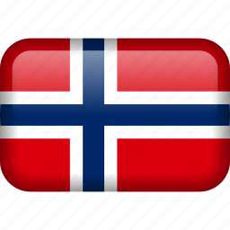country, flag, norway svalbard icon