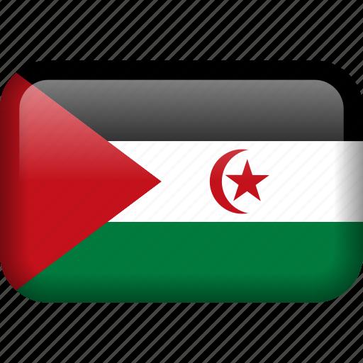 country, flag, western sahara icon