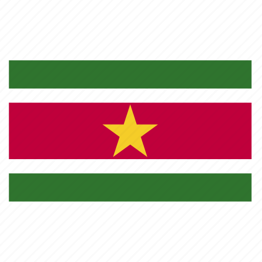 country, flag, sur, suriname, surinamese icon
