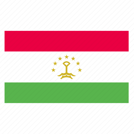 asia, asian, country, flag, tajikistan, tajikistani, tjk icon