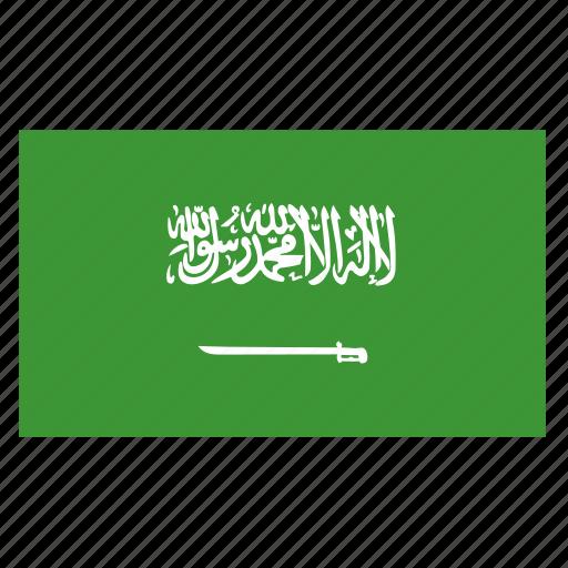 arabia, country, flag, sau, saudi, saudia icon