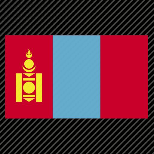 asia, country, flag, mng, mongolia, mongols, qmongolian icon