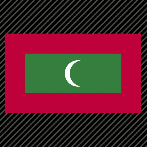 asia, asian, country, flag, maldives, maldivian, mdv icon