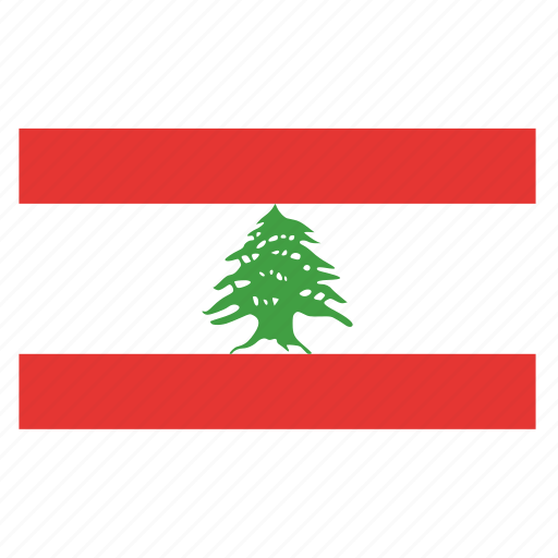 country, flag, lbn, lebanese, lebanon icon