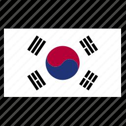 asia, asian, country, east, flag, kor, korea, korean, south icon