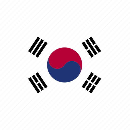 asia, asian, country, east, flag, kor, korea, korean, south icon