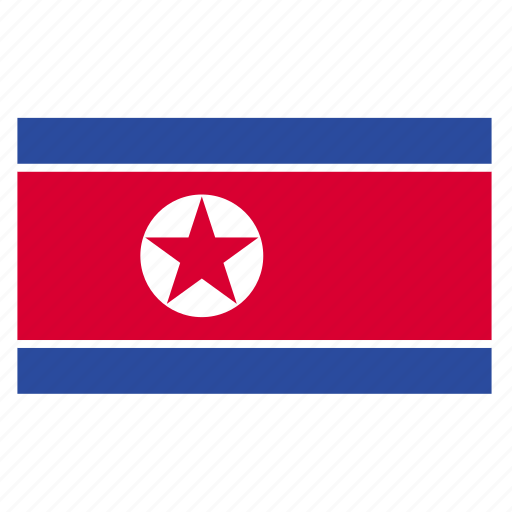 country, flag, korea, korean, north, north korea, prk icon