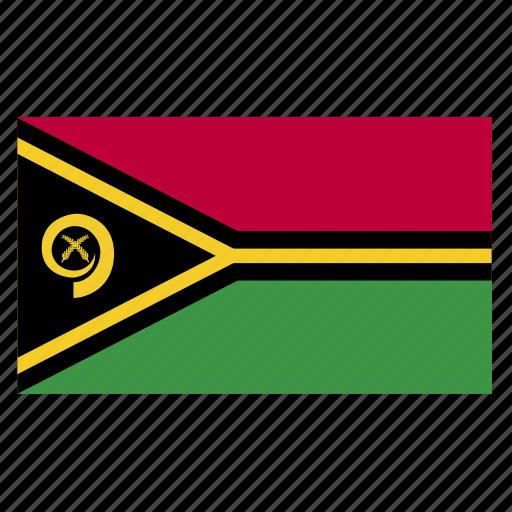 country, flag, oceania, vanuatu, vatu, vut icon